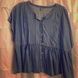 aerie Tops - Beautiful Denim button blouse 💙 Like new
